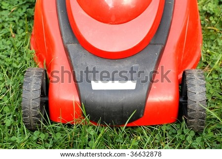 detail of lawn mower - stock photo