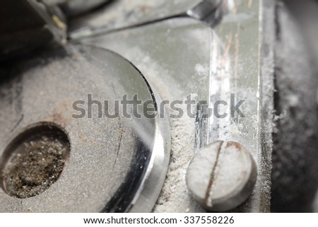 Detail of machine tool - stock photo