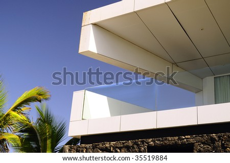 Detail of modern architecture in Lanzarote - stock photo
