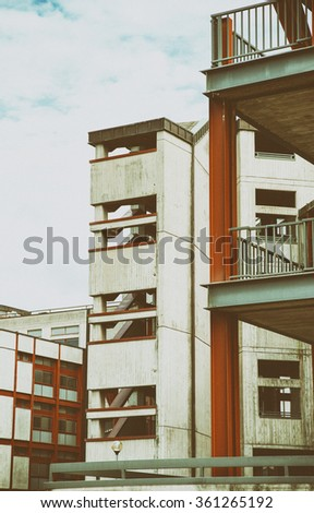 detail of modern hospital in italy - stock photo
