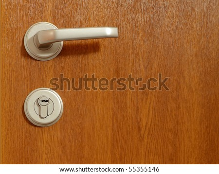 Detail of modern office door background - stock photo