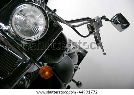 detail of motorcycle - stock photo