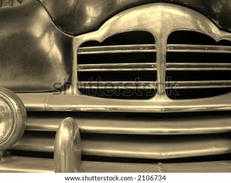Detail of Old Car -- this model dates from about 1940