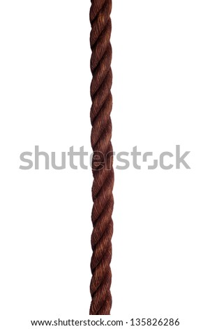 detail of old rope - stock photo