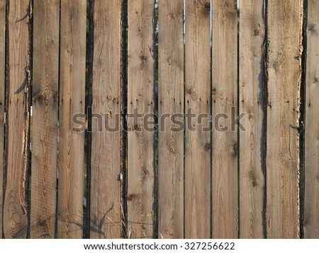 Detail of old wooden fence. - stock photo