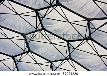 Detail of one of the biomes at the Eden Project in Cornwall