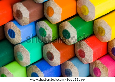 detail of pencils - stock photo