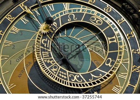 Detail of Prague's Astronomical Clock, also known as The Orloj.