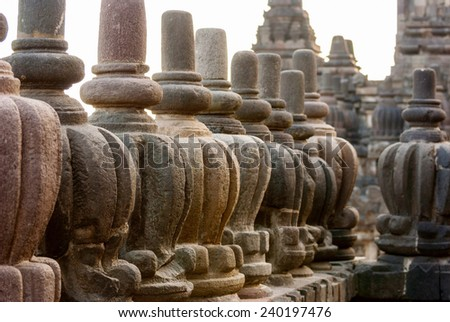 Detail of Prambanan temple, Yogjakarta, Indonesia - stock photo