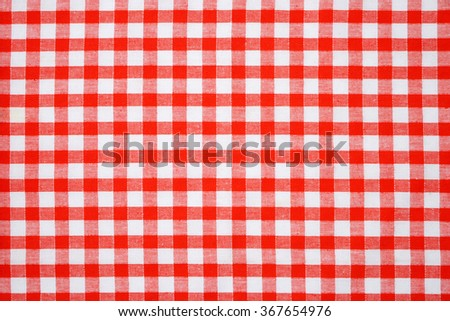 detail of red and white napkin