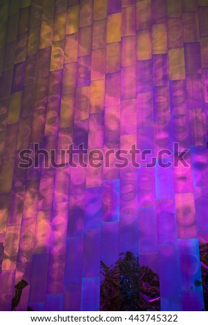 Detail of reflective exterior metal building surface, Seattle Washington - stock photo