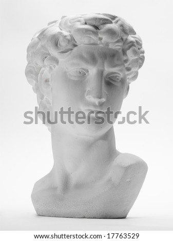 Detail of replica of David - stock photo