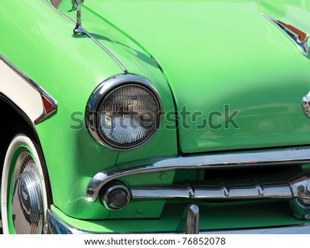 detail of retro car - stock photo