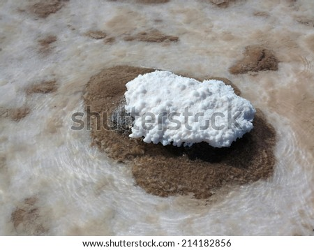 detail of salt rock in desert of atacama, chile - stock photo