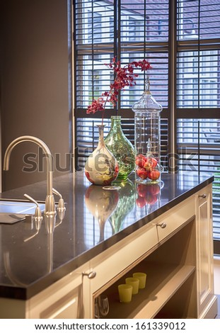 detail of seasonal kitchen decoration  - stock photo