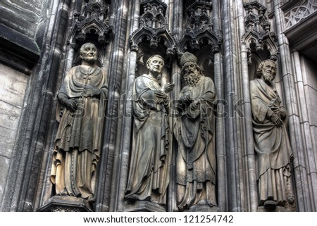 Detail of st lamberts church in Muenster, Germany - stock photo