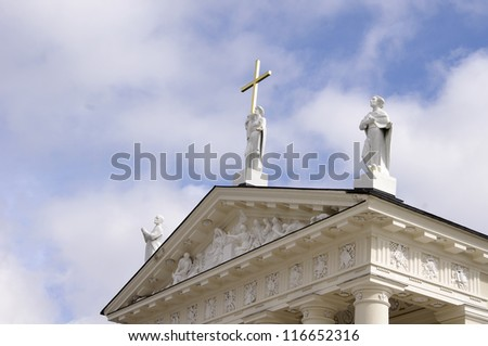 Detail of St. Stanislav Cathedral. Vilnius, Lithuania