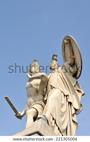 Detail of statue in Berlin, Germany - stock photo