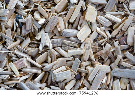 Detail of surface of wooden chips - stock photo