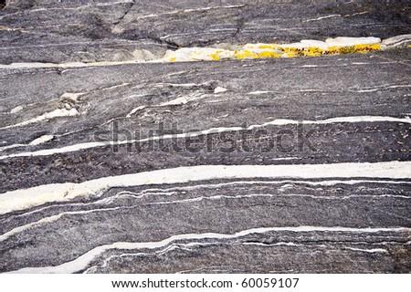 detail of swedish skerry rocks - stock photo