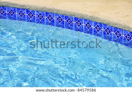 Detail of Swimming Pool, useful as a background. Room for your text - stock photo