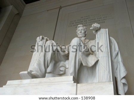 Detail of the Abraham Lincoln Memorial