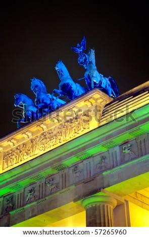 Detail of the Brandenburger Tor - stock photo