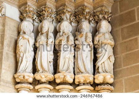 Detail of the Cathedral of Evora, Portugal - stock photo