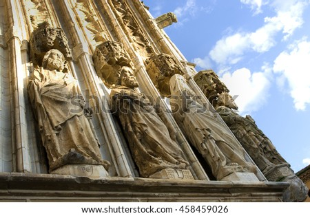 Detail of the church of Castello de Empuries.Catalonia.Spain - stock photo