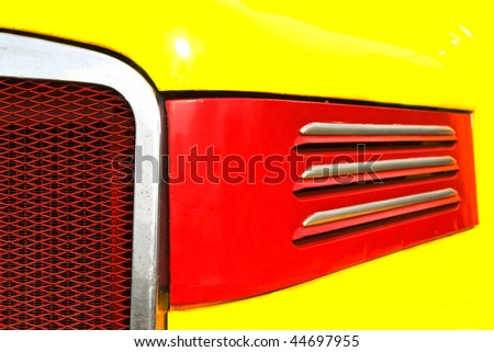 Detail of the front of an old truck - stock photo