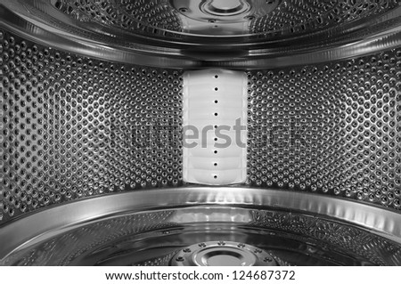 Detail of the inside of a washing machine. - stock photo