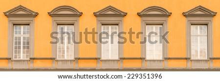 Detail of the main building of Bonn University - stock photo
