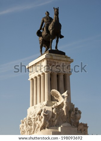 Detail of the monument to Major General Maximo Gomez in Havana, Cuba