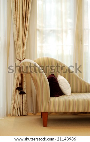 Detail of the sofa in the stylish room - stock photo