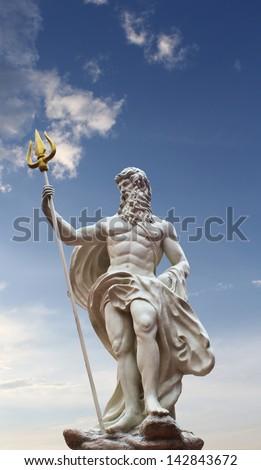 Detail of the statue of Poseidon at  venezia hua hin Thailand - stock photo