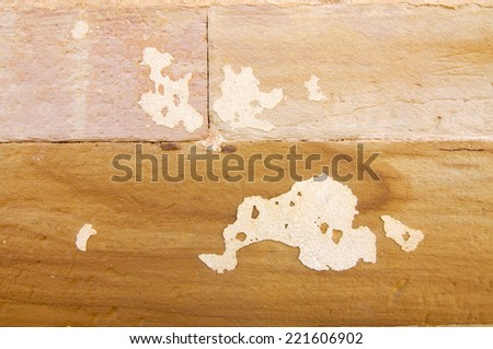 Detail of the stones on a stone wall - stock photo