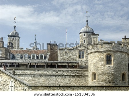 Detail of the Tower in London, UK - stock photo