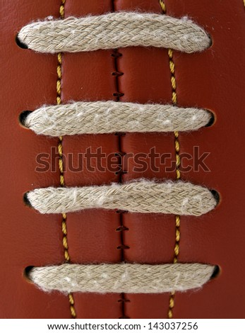 Detail of the vintage football ball - stock photo