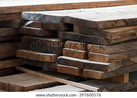 Detail of the wood panesl for joinery - stock photo