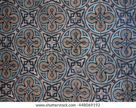 Detail of Ukranian floor  tiles