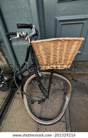 Detail of unusual vintage bicycle on the streets of Oxford - stock photo