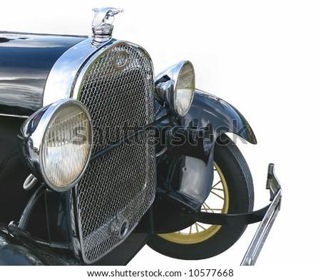 detail of vintage automobile - stock photo