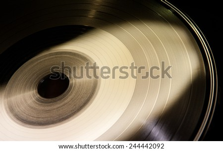 Detail of vinyl disc form - stock photo