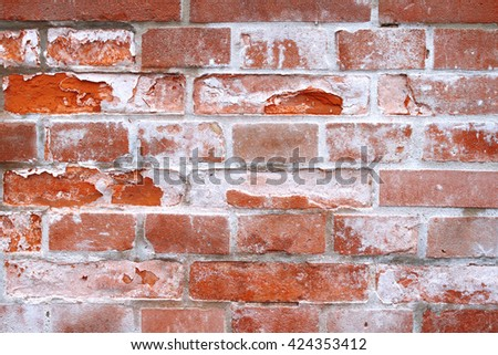 detail of weathered brick wall background
