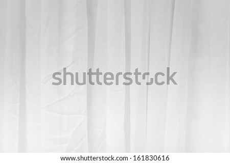 detail of white curtain - stock photo
