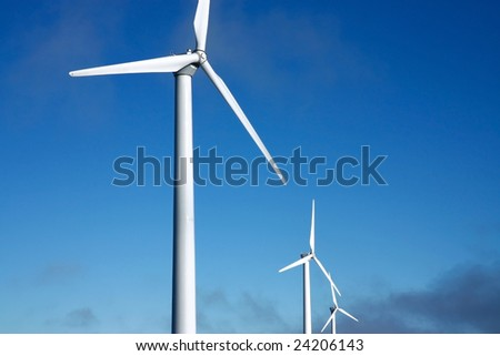 detail of wind power field