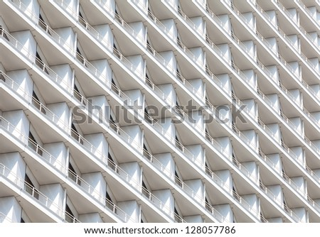 Detail of windows in high-rise - stock photo