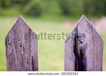Detail of wood from a rural fence - stock photo