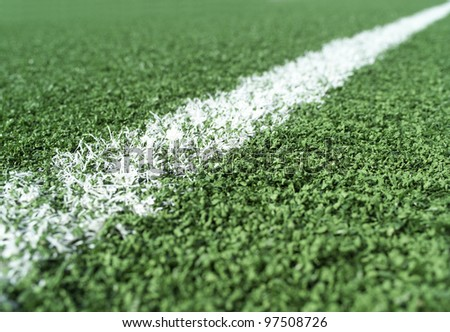 Detail on a Soccer Field - stock photo