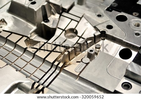 Detail part of a cast machine. - stock photo